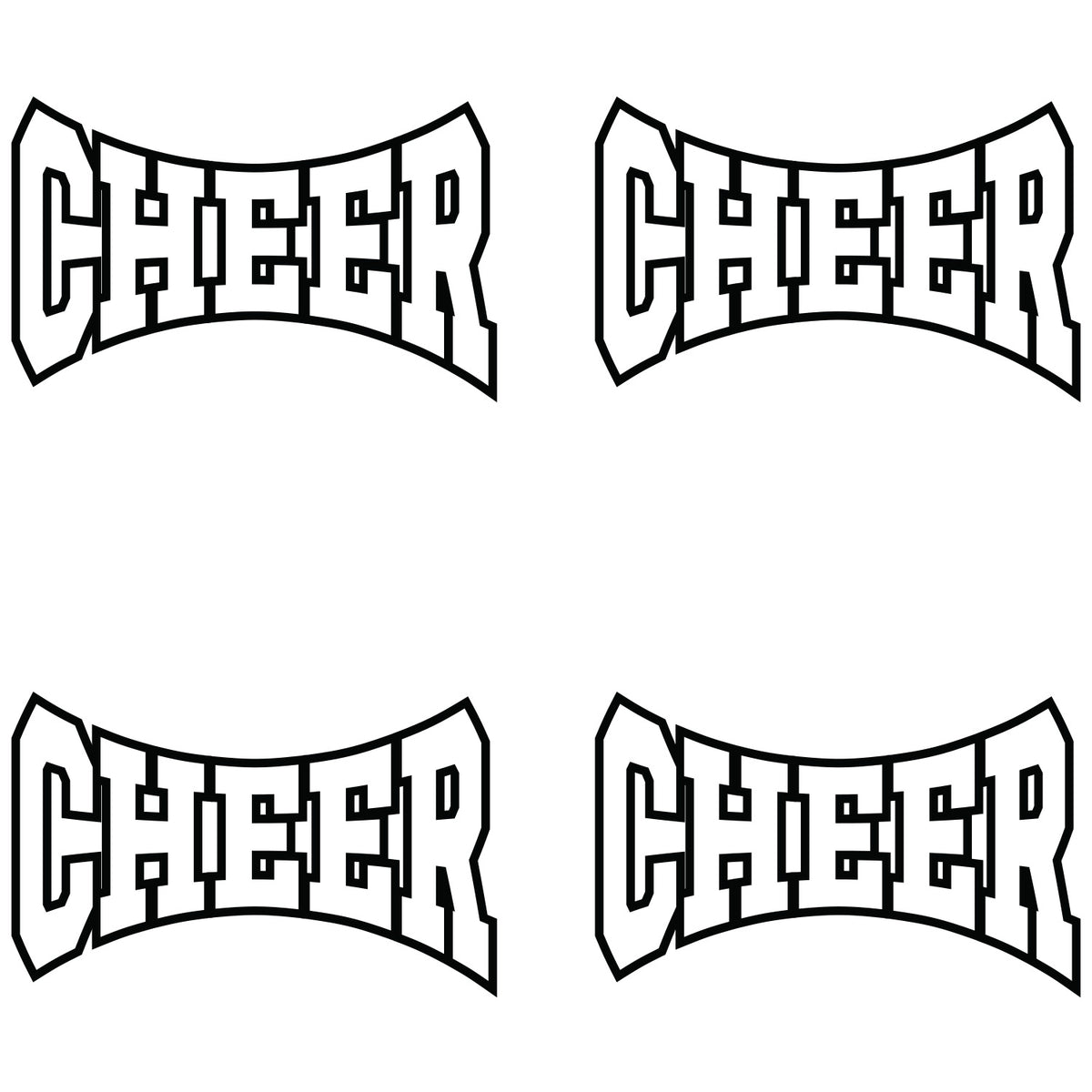 White Cheer Waterless Tattoos
