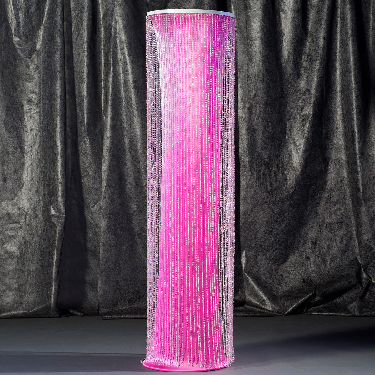 8 ft. Hot Pink Crystal Overlay Round Column