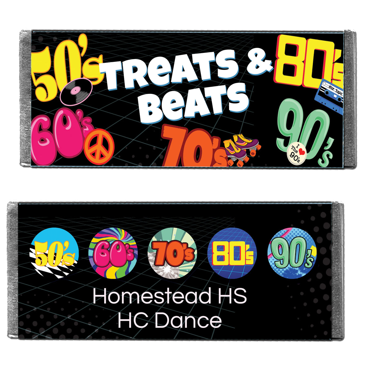 Hershey's Chocolate Through the Decades Personalized Candy Bars