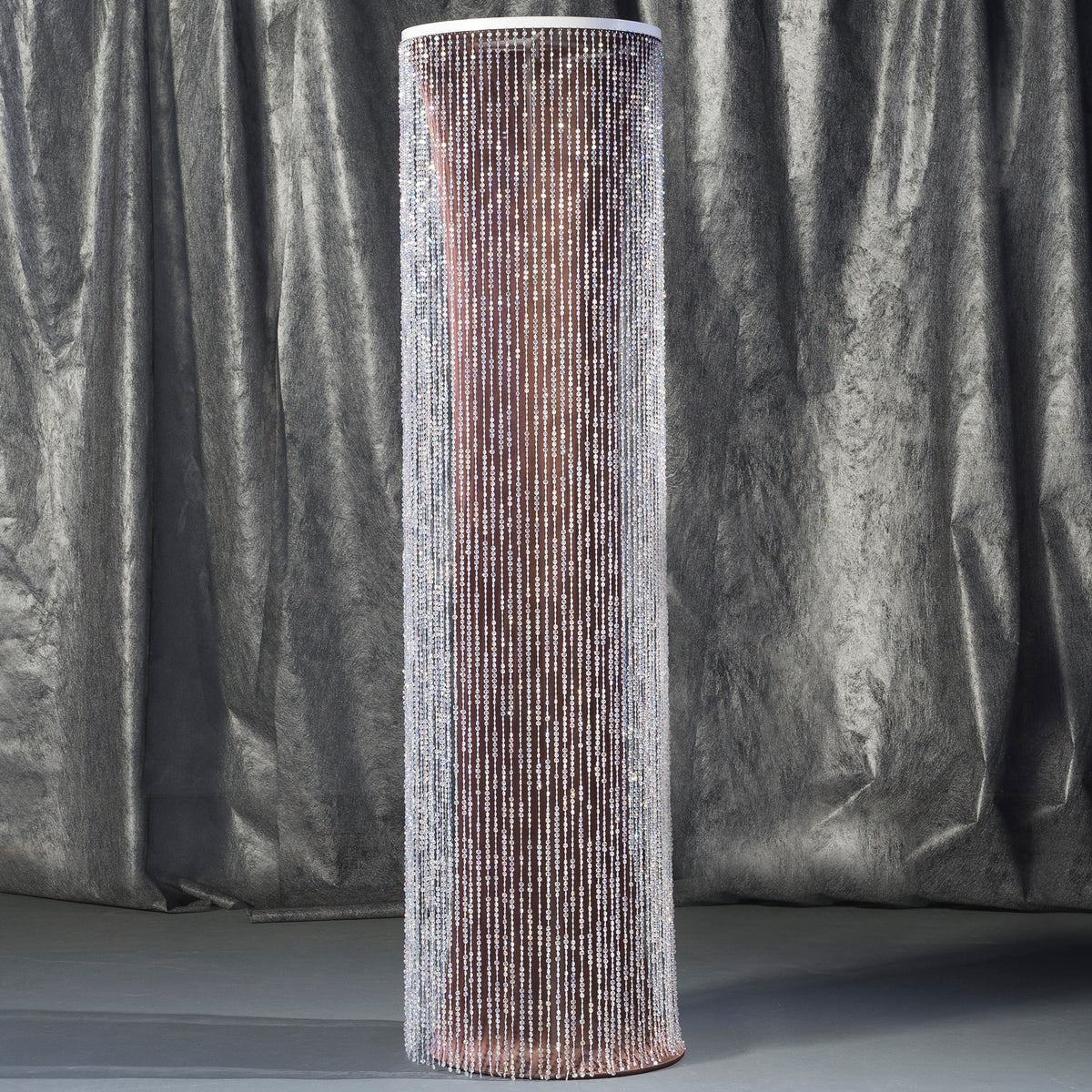 8 ft. Brown Crystal Overlay Round Column