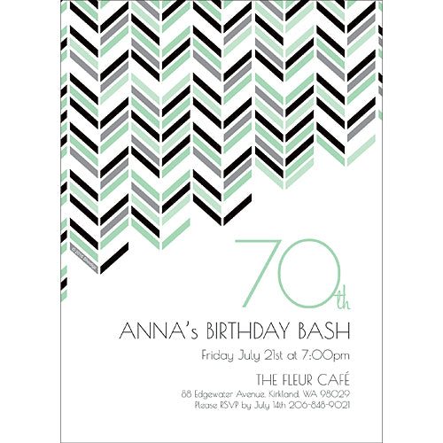 Best Day Ever 70 Personalized Invitations