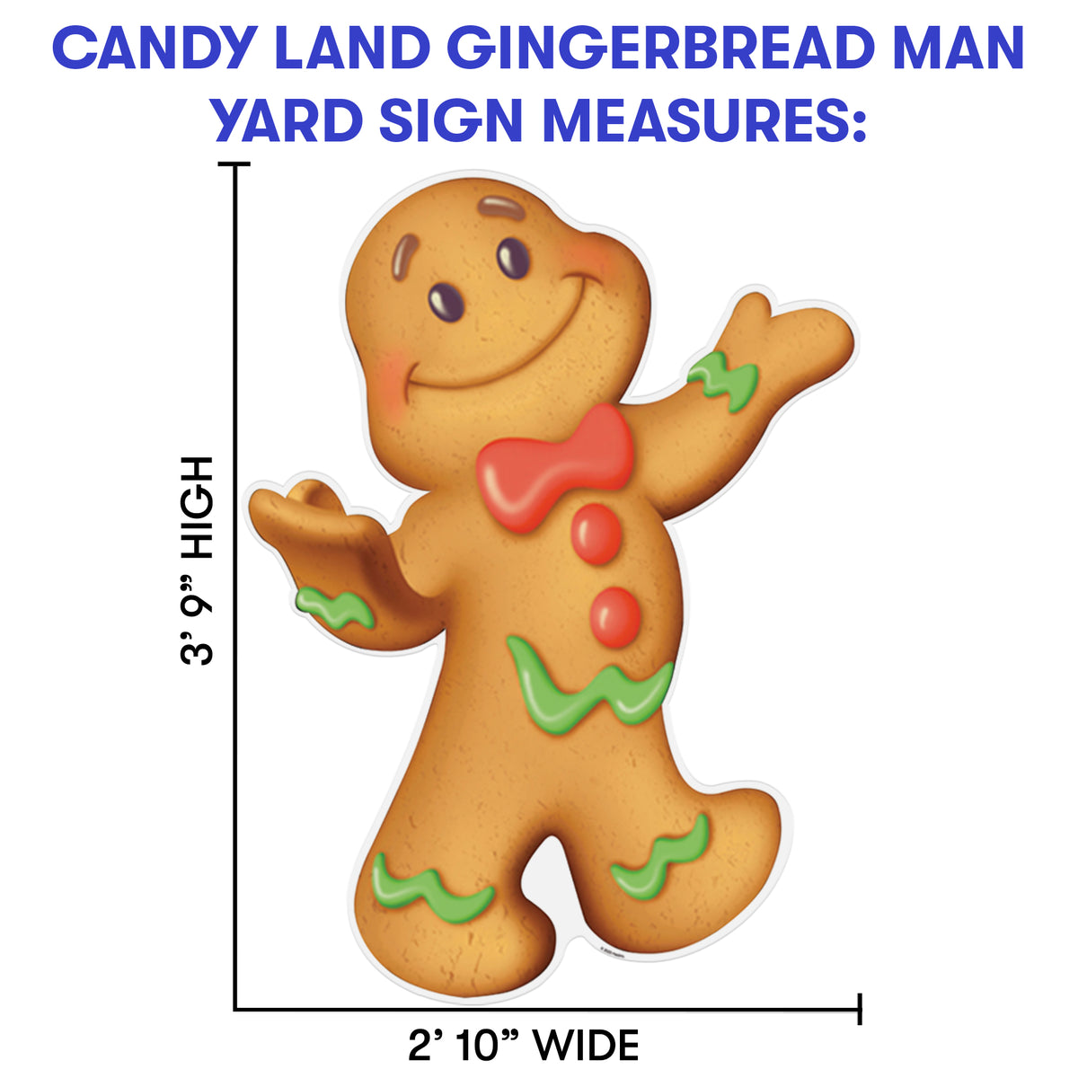 3 ft. 9 in. Candy Land Gingerbread Man Yard Sign