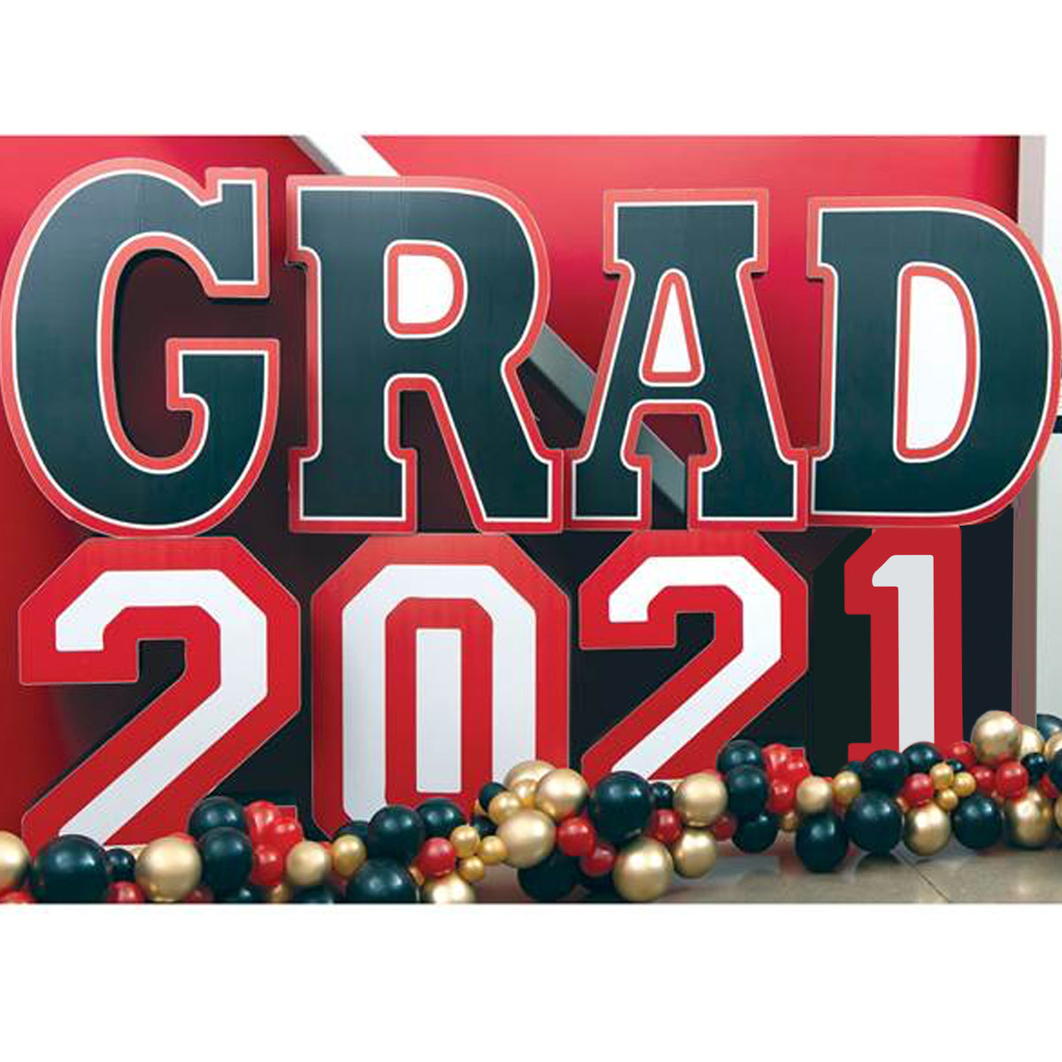 3 ft. 5 in. 2021 Grad Success Personalized Letter Set