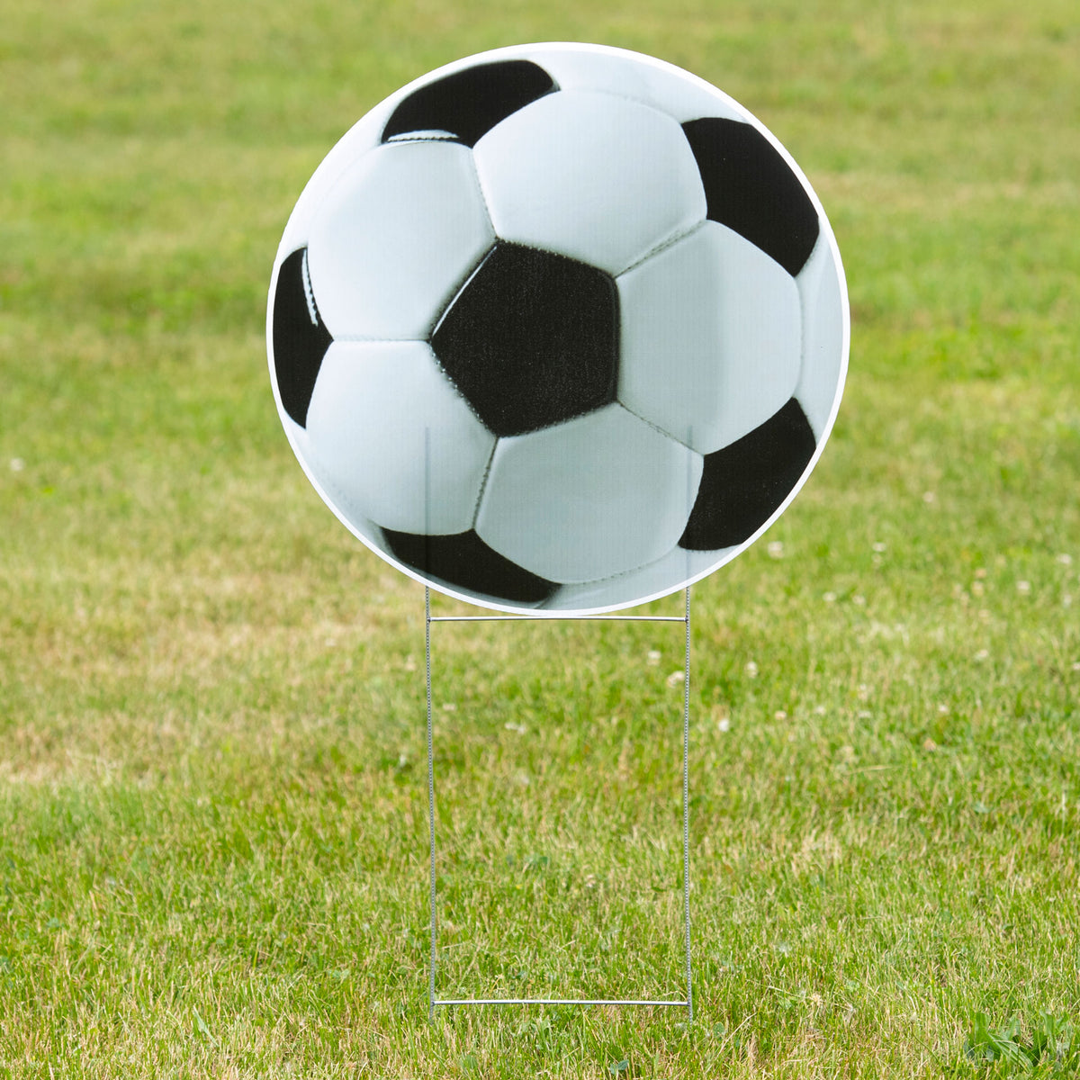 1 ft. 10 in, Soccer Ball Yard Sign Expression Icon