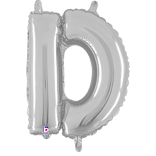 Letter D Silver Megaloon Junior Balloon