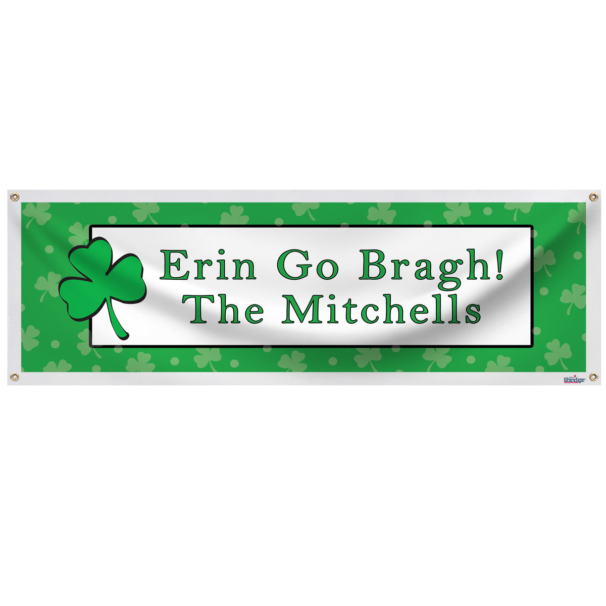 Shamrock Personalized Banner