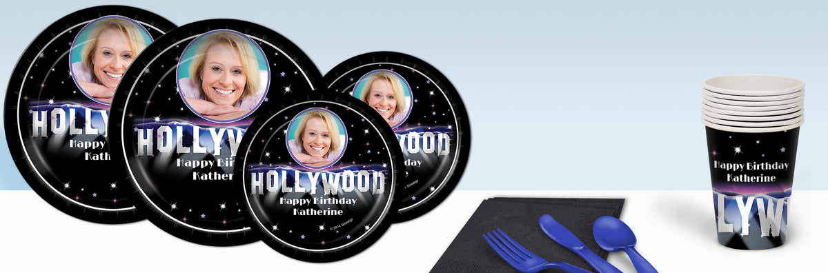 Hollywood Hills Personalized Basic Party Pack For 8