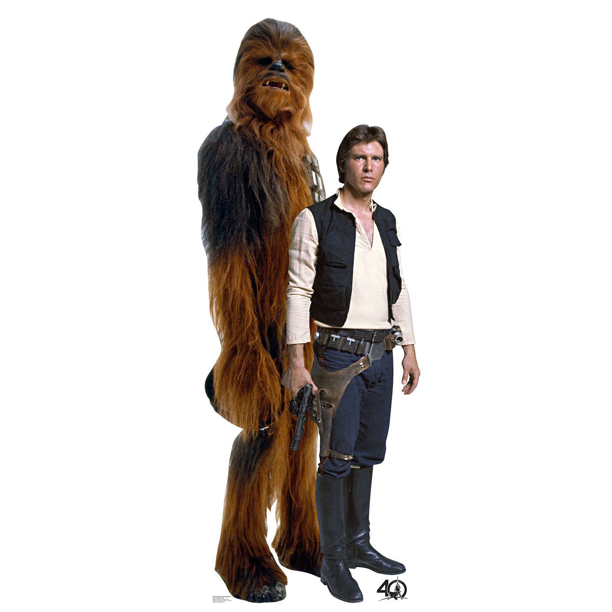 40th Anniversary Star Wars Han Solo and Chewbacca Standee