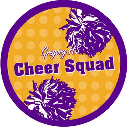 Cheer Poms Custom Static Decals