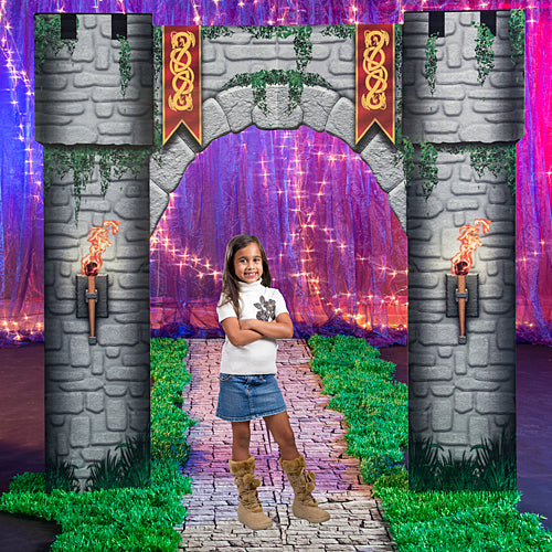 9 ft. 4 in. Fantasy Knights Castle Entrance