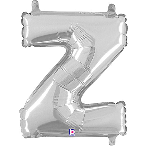 Letter Z Silver Megaloon Junior Balloon