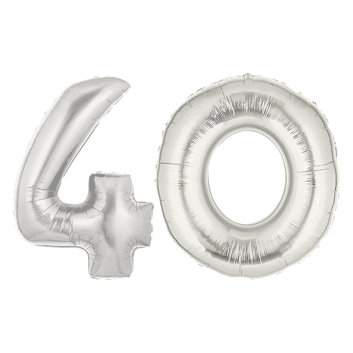 Silver 40 Balloon Number Set