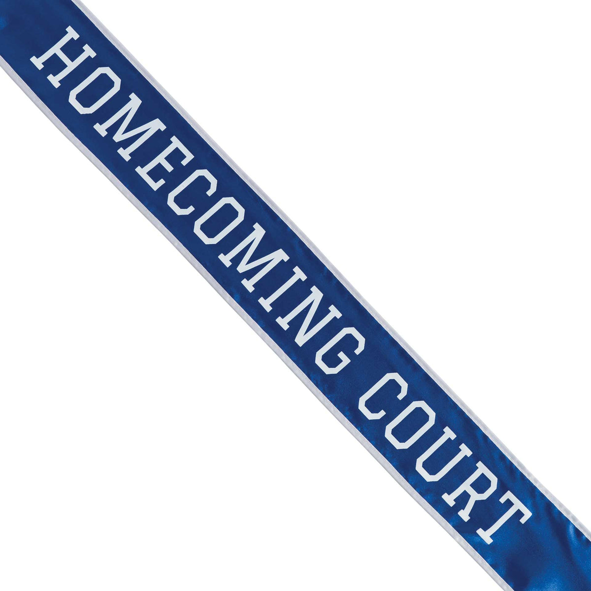 Blue & White School Color Homecoming Court Sash