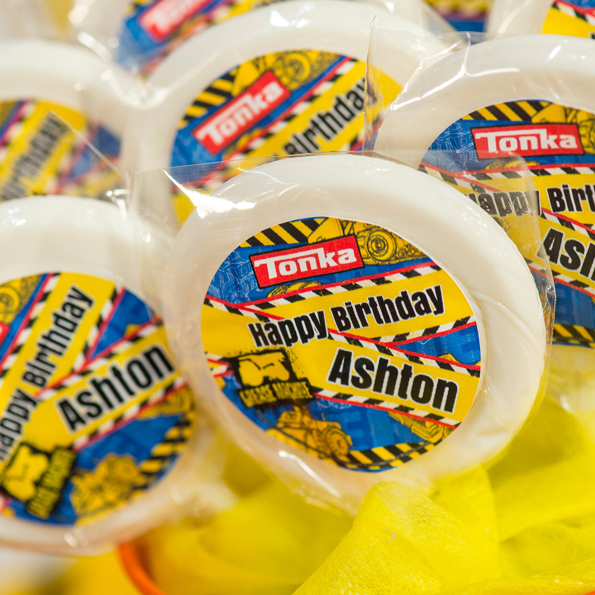 Totally 90's Personalized White Swirl Lollipops
