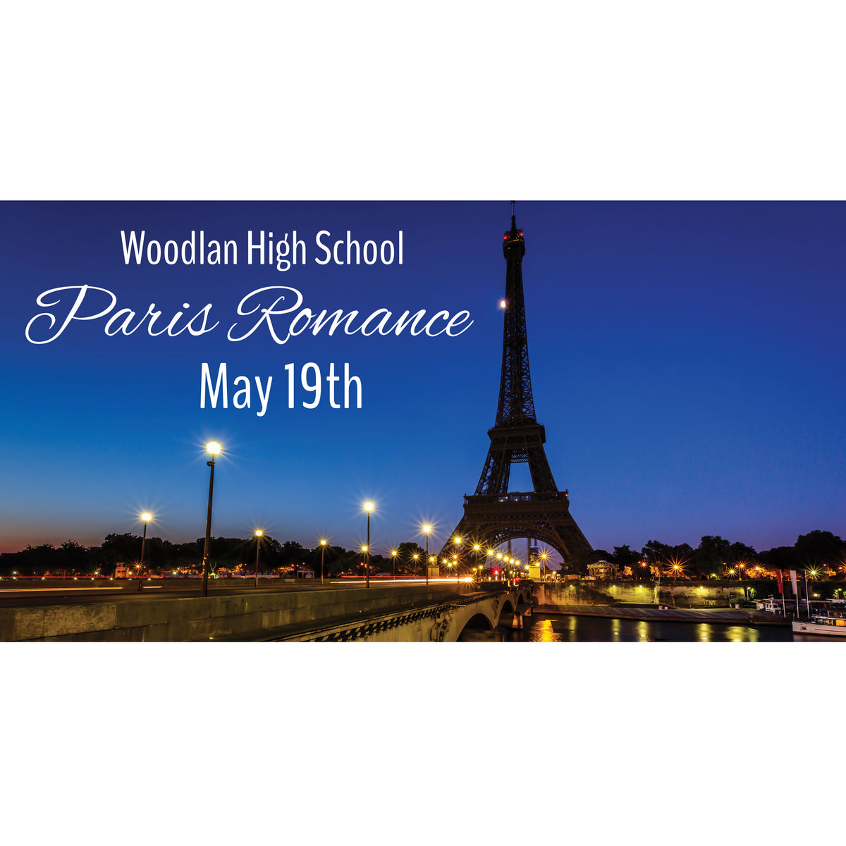 Streets of Paris Personalized Photo Backdrop