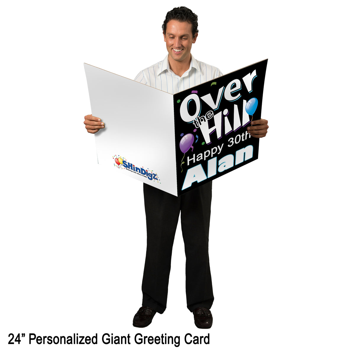 18 in., 24 in and 36 in. Totally 90's Personalized Giant Greeting Card