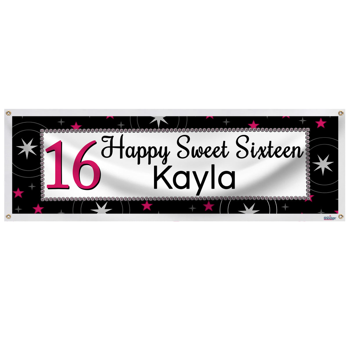 Sweet 16 Personalized Banner