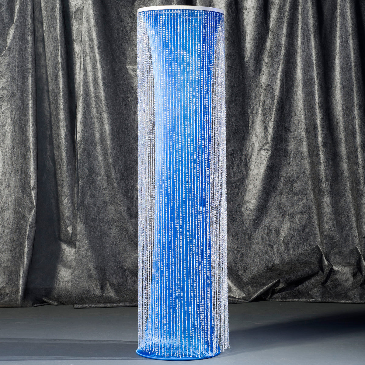 8 ft. Blue Crystal Overlay Round Column