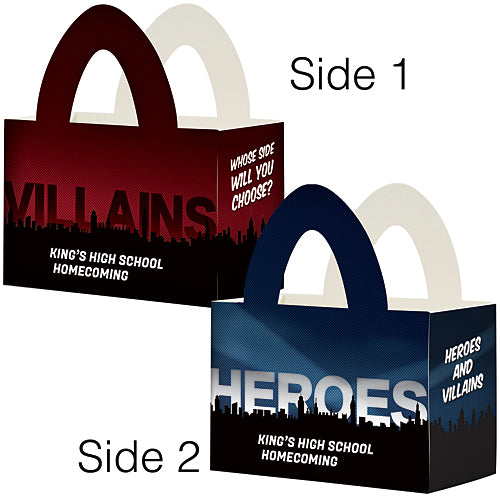 Heroes And Villains Custom Favor Box