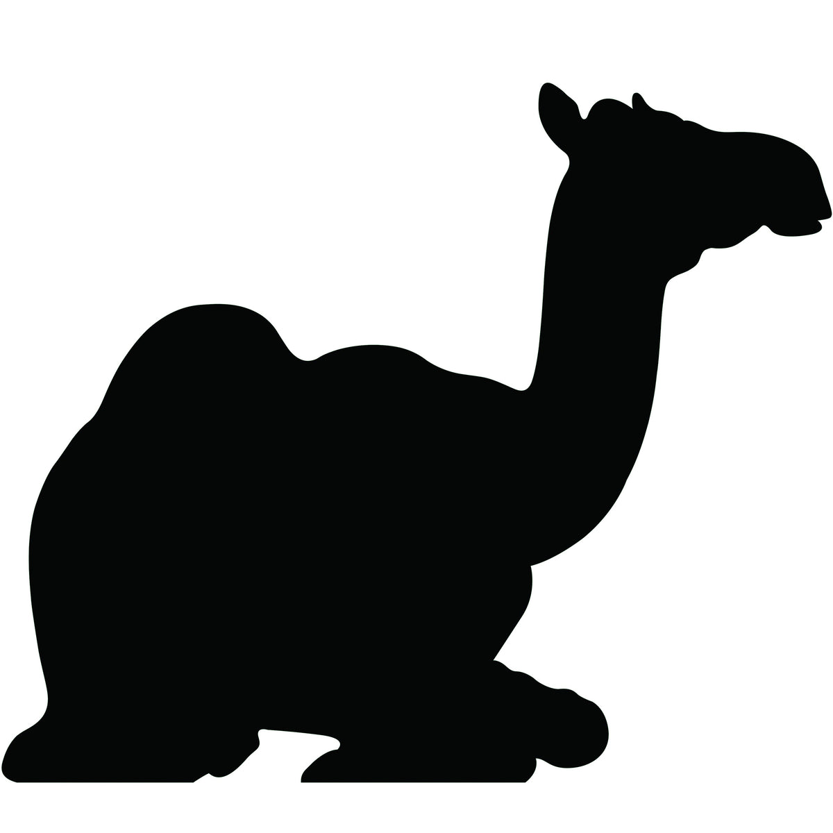 3 ft. 10 in. Sitting Camel Black Silhouette Standee