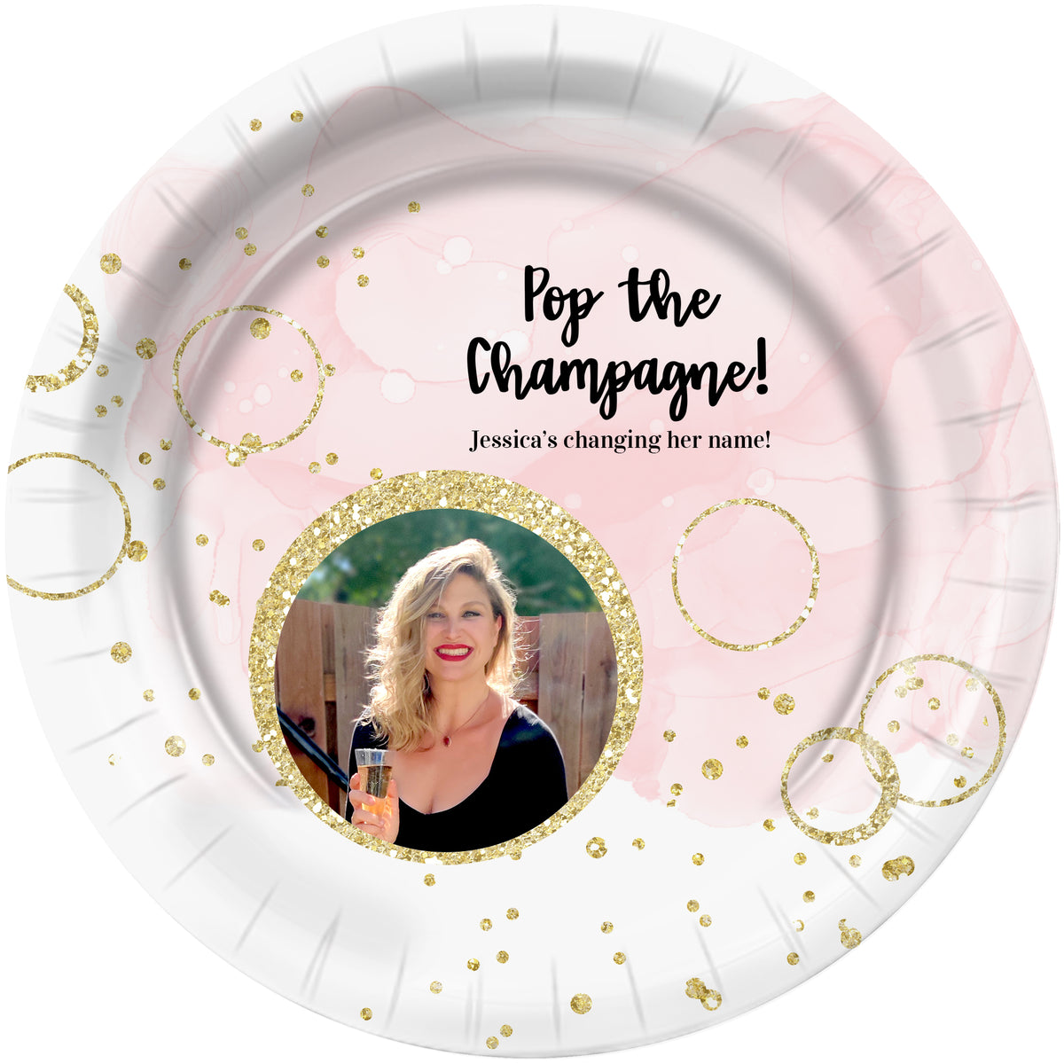 Bubbly Bash Personalized Dinner Plates