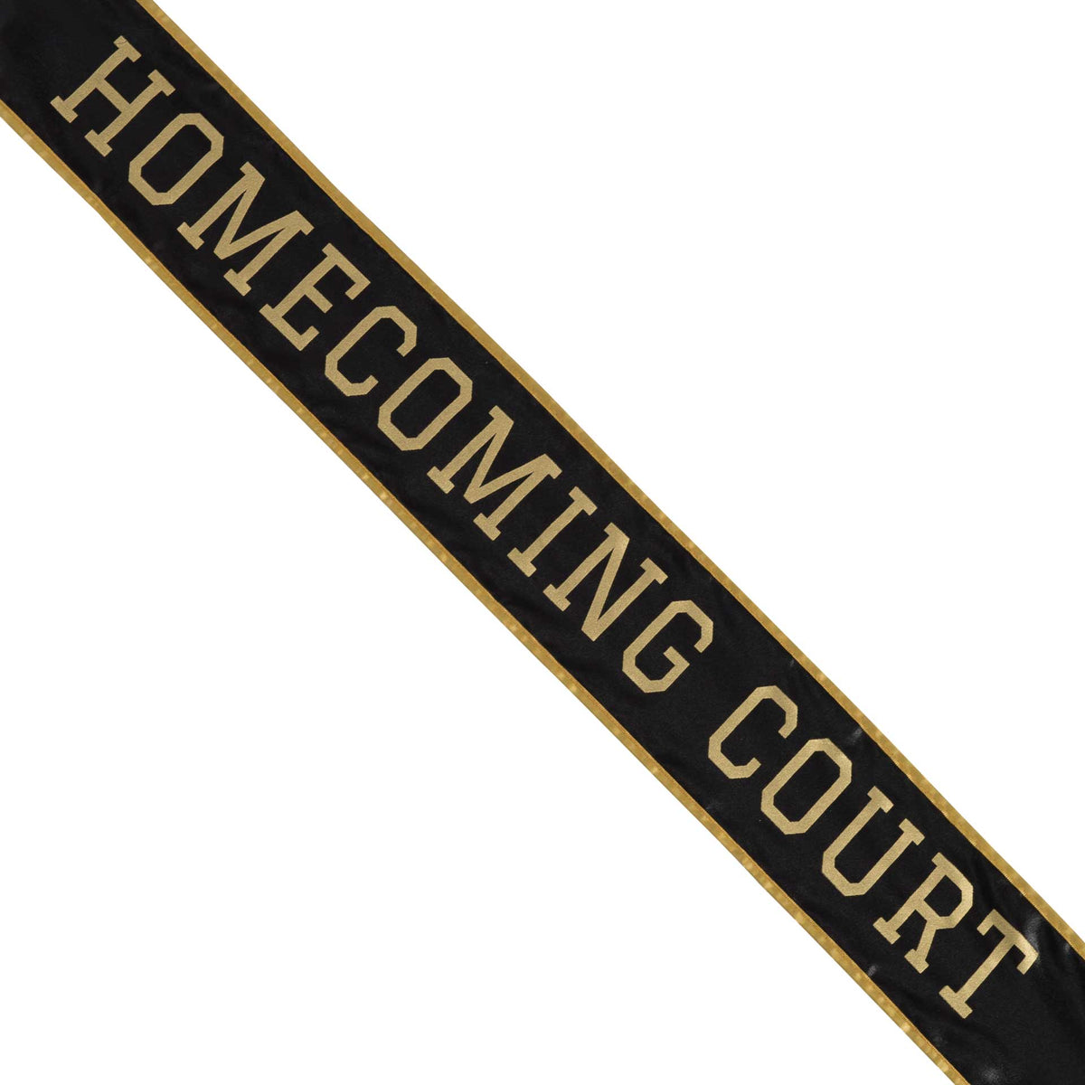 Black & Gold School Color Homecoming Court Sash