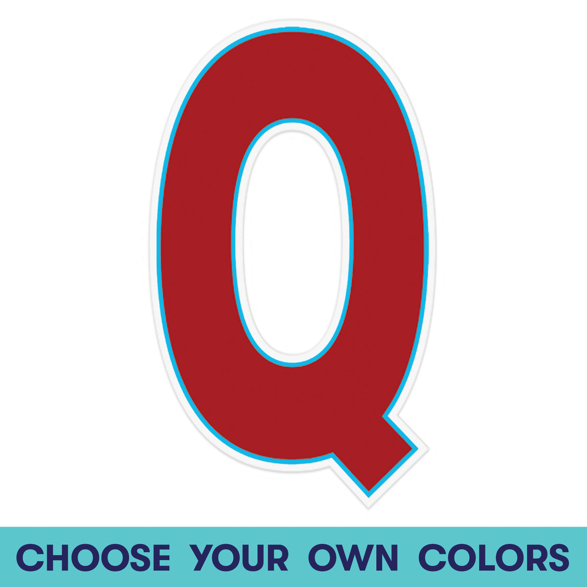 1 ft. 11 in. Letter Q Wall Decal