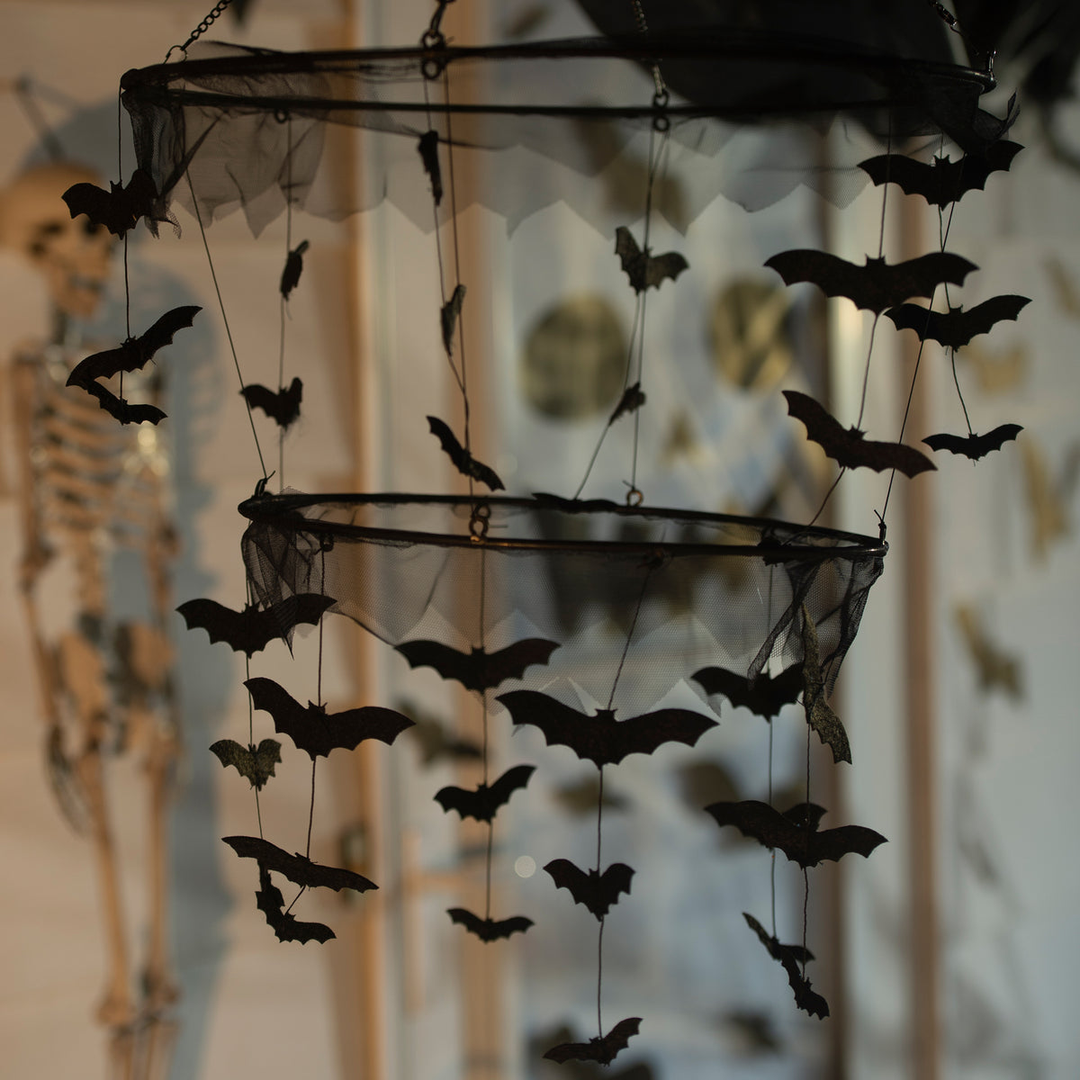 Fabric Bat Chandelier