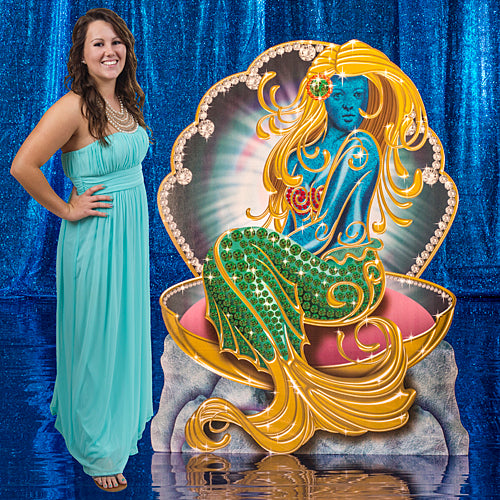 4 ft. 10 in. Treasures of the Deep Mermaid Standee