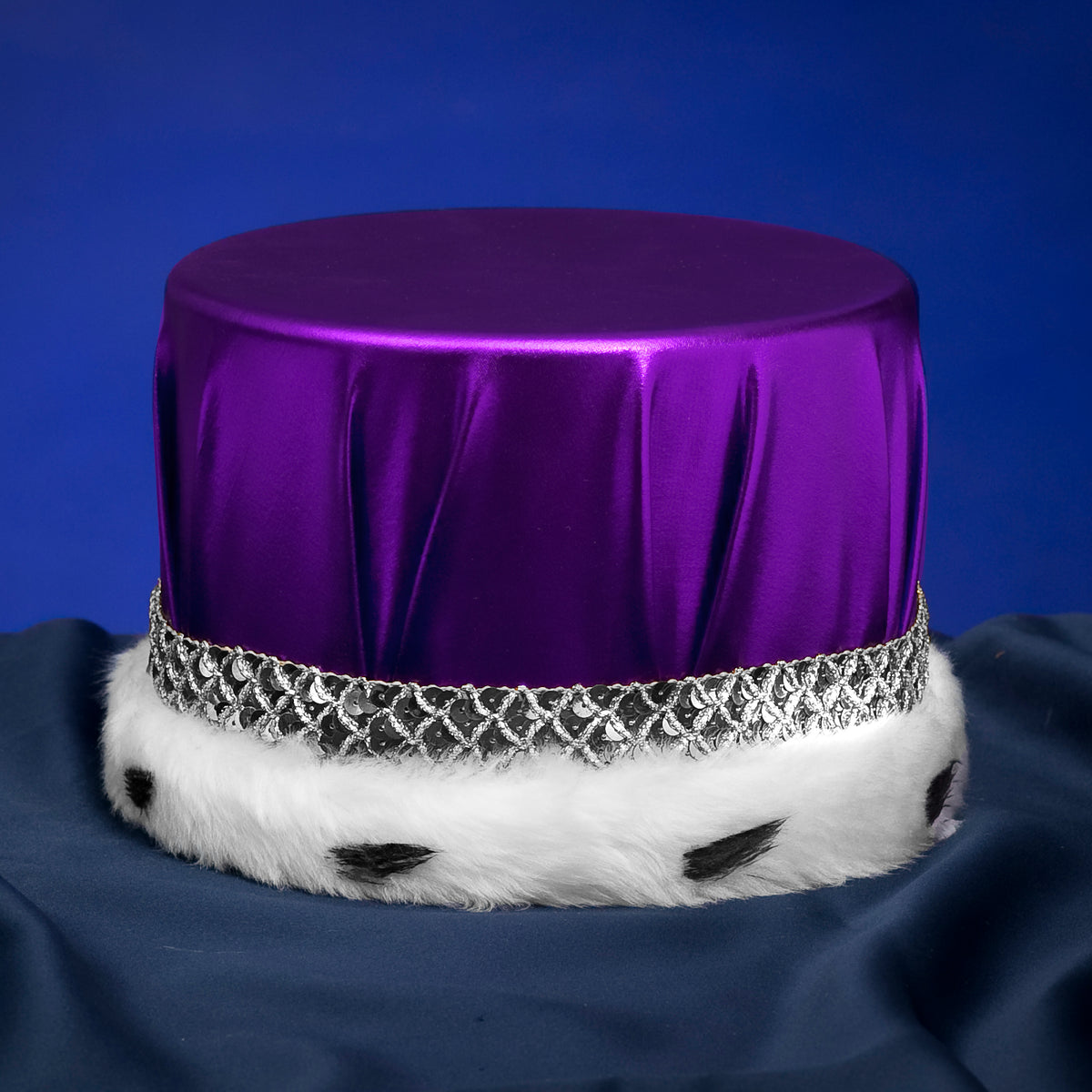 Metallic Purple with Silver Trim Crowns