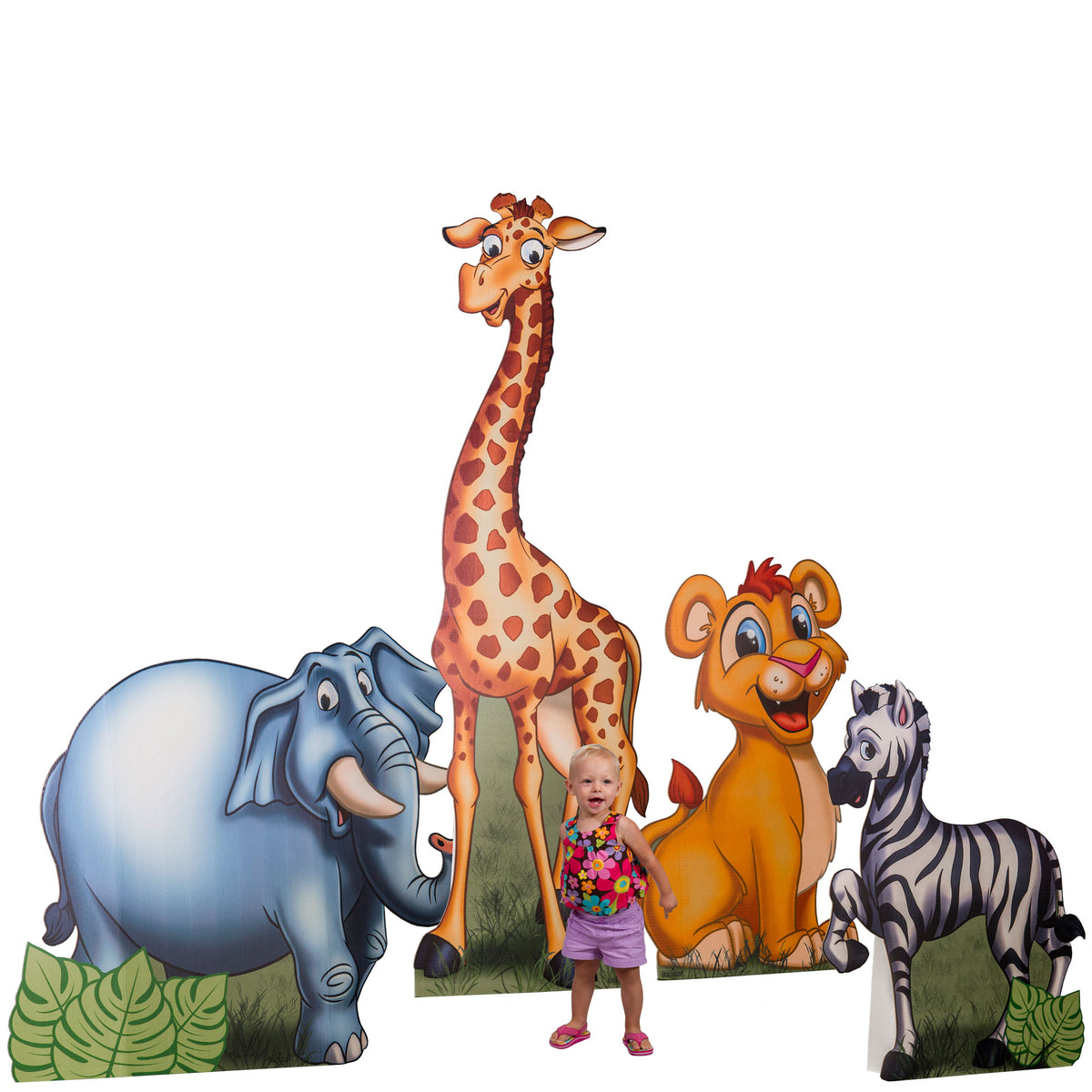 3 ft. to 7 ft. 2 in. Safari Animals Standee Set