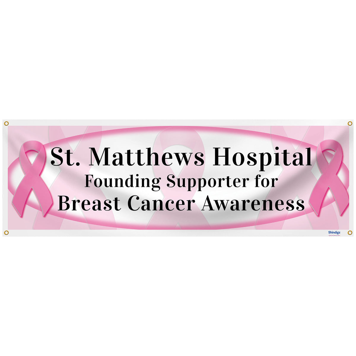 Breast Cancer Awareness Personalized Banner