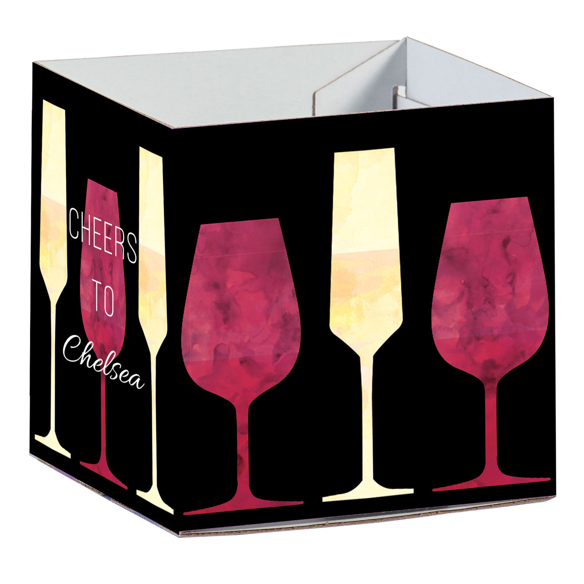 Wine Time Personalized Square Centerpiece