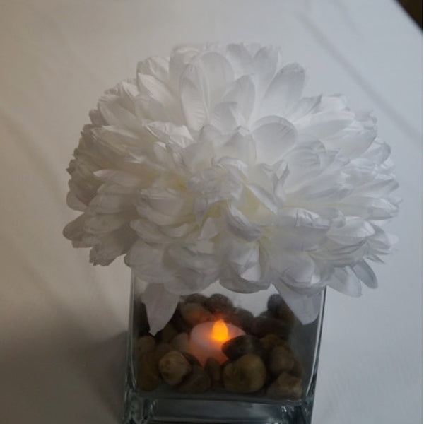 5 x 5 Square Glass Vase