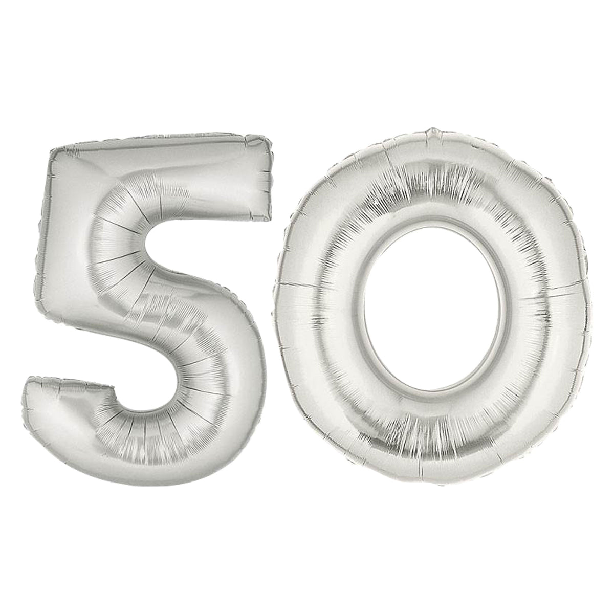 Silver 50 Balloon Number Set