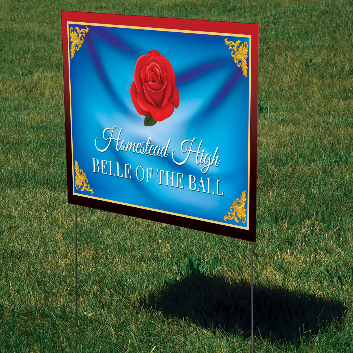 Belle of the Ball Personalized Yard Sign