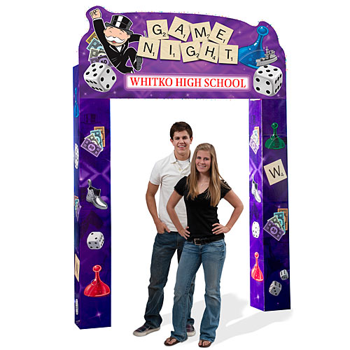 9 ft. Hasbro Game Night Arch
