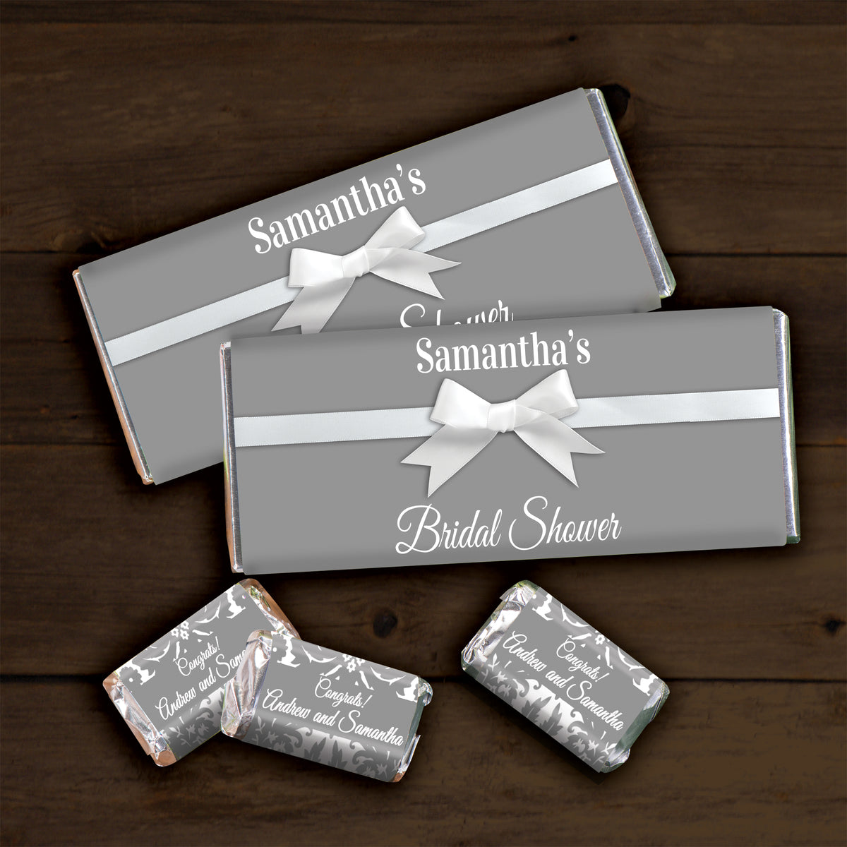 Hershey's Chocolate Cheers to You Gold 50 Personalized Candy Bars