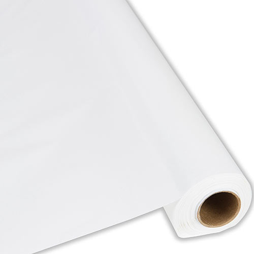 White Plastic Table Roll