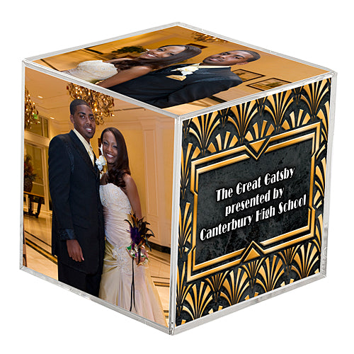 Art Deco Personalized Photo Cubes