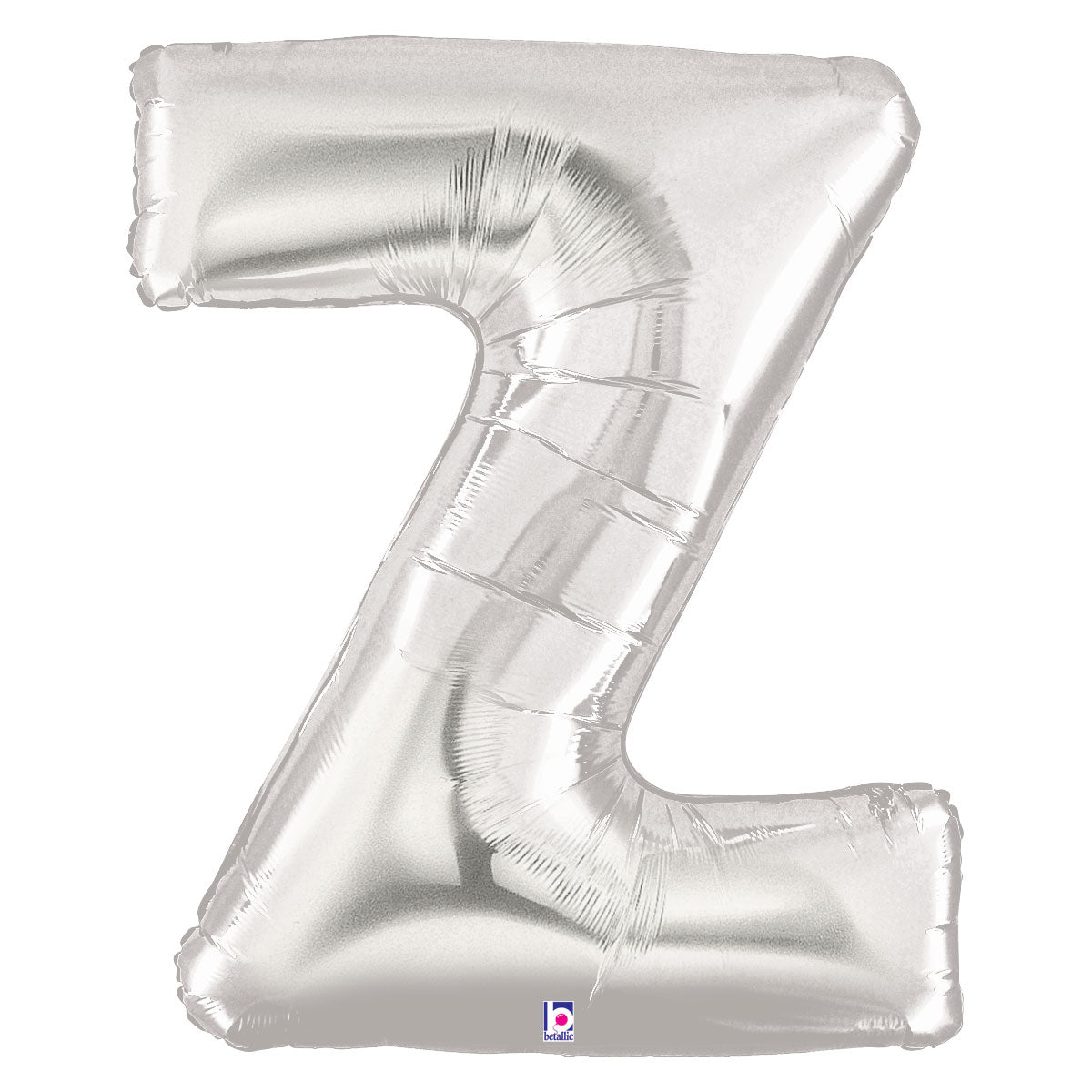 Letter Z Silver 40 in. Mylar Balloon
