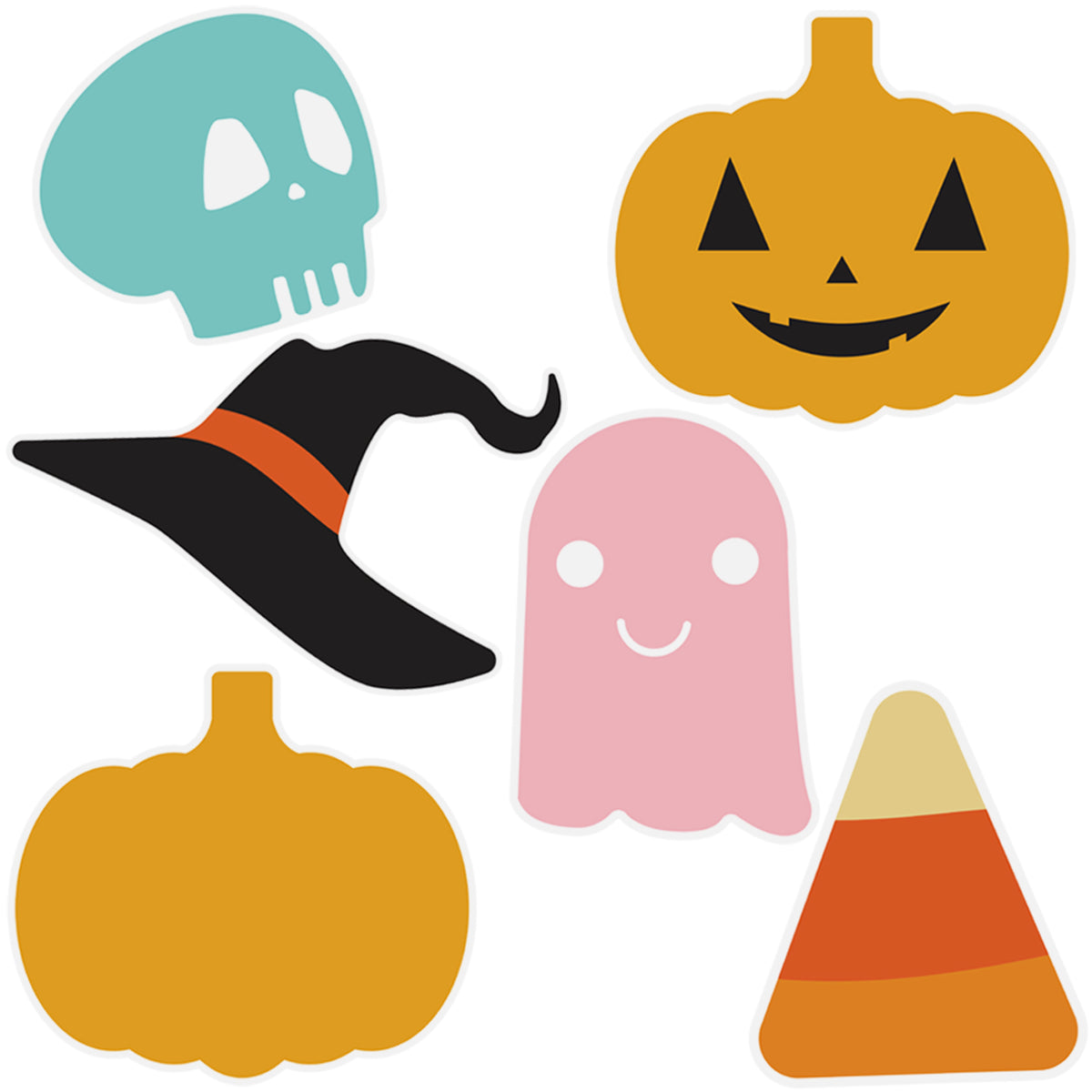Sweet & Spooky Halloween Icon Window Clings