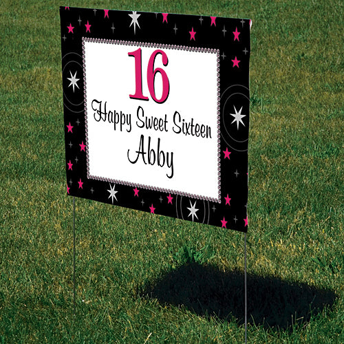 Sweet 16 Stars Yard Sign