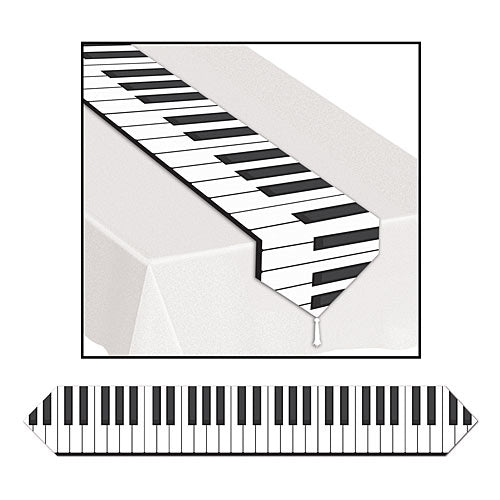 Printed Piano Keyboard Table Runners
