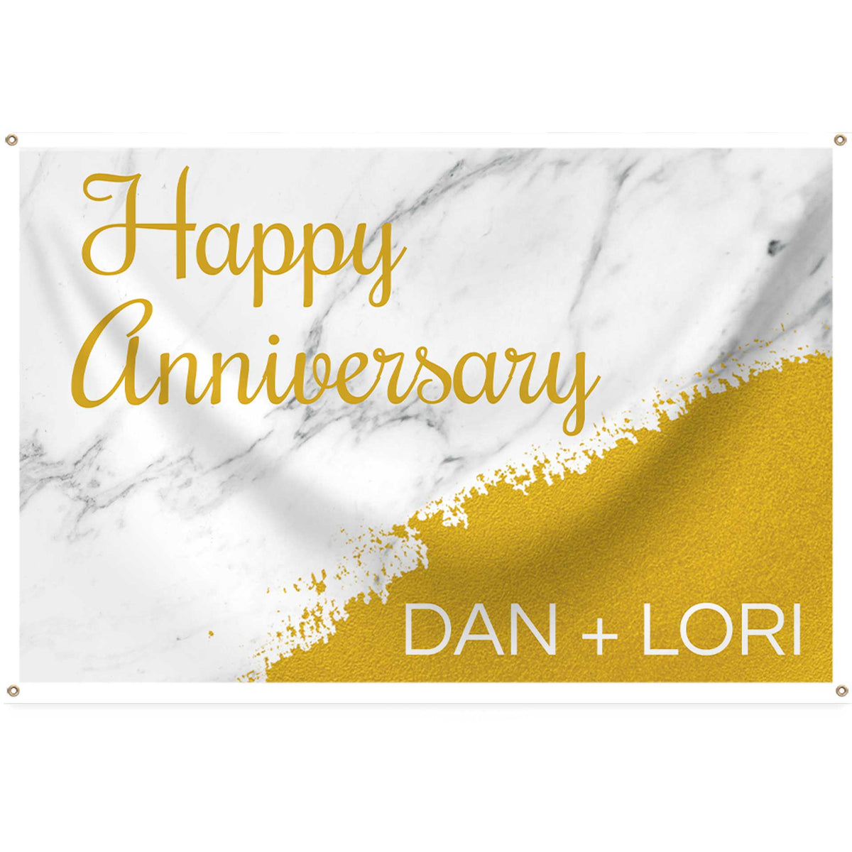 Gold Marble Personalized Rectangle Banner