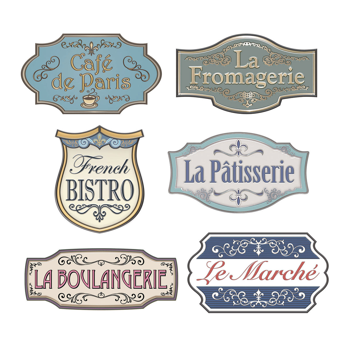 Paris Street Sign Cutouts