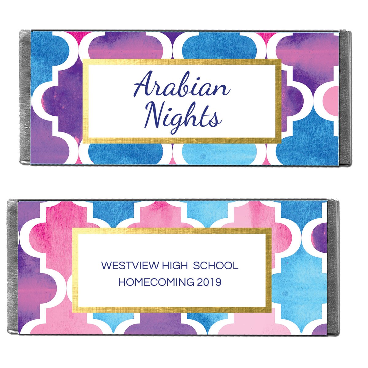 Hershey's Chocolate Arabian Nights Personalized Candy Bars