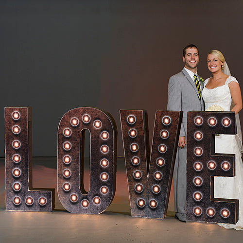 4 ft. 3 in. Industrial Chic Lighted 3D Love Letters