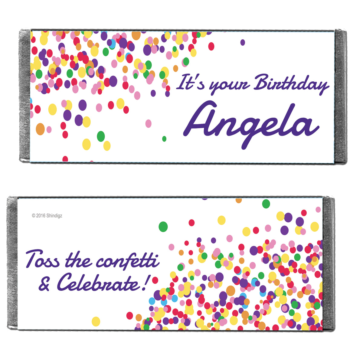 Hershey's Chocolate Sprinkled With Fun Personalized Candy Bars