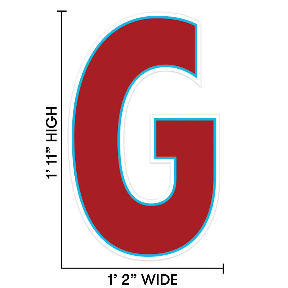 1 ft. 11 in. Letter G Wall Decal